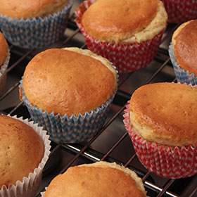 Picture of cupcakes in an oven